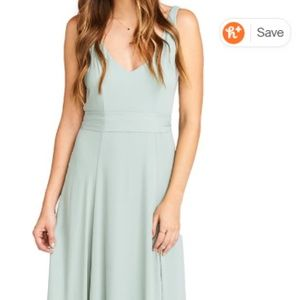 Jen Maxi Gown SHOW ME YOUR MUMU in Silver Sage